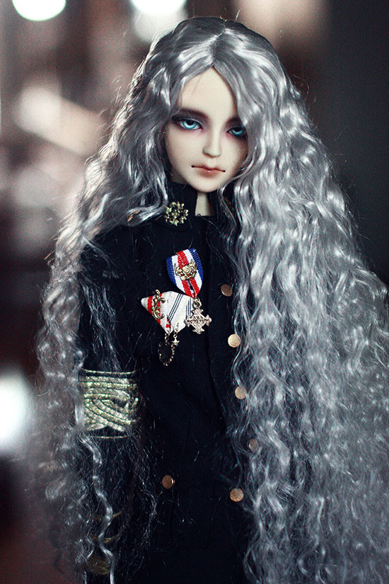 1/3 Bjd Doll Wigs Imitation Mohair Long Wave Hair Silk Gray Color Suitable For 1/3 Bjd Mdd Uncle Doll Accessories And Digestion Helping