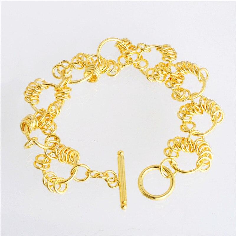Shuangr Летний стиль нежный полые римские Браслеты Нержавеющаясталь браслет Для женщин вакуум покрытие браслет tl063