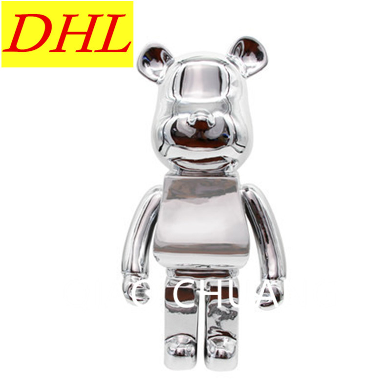 Cartoon Model Be@rBrick Gloomy Bear KAWS Medicom Toy PVC Action Figure Model Giocattolo G1206 28 70cm 1000% bearbrick be rbrick attack on titans action toy figure medicom toy art work great gift for friends