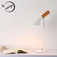 Modern iron painted wood desk light adjustable Iron lampshade E27 table lamp LED light for bedroom restaurant Cafe study 220V