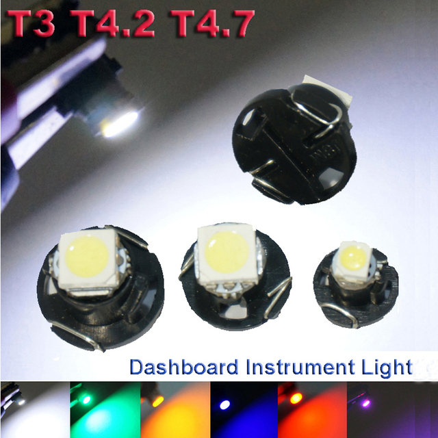 6X T3 T4.2 T4.7 LED Neo Wedge Switch Radio Climate Control Bulb Instrument Dashboard Dash Indicator Light Bulb Ac Panel Bulb
