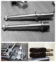 Titanium Ti Alloy MKS Pedal Spindles Axles Quick Left And Slow Right Lubricationg And Light For