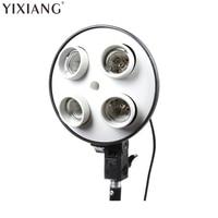 4 In 1 E27 Photo Studio Bulb Holder Base Socket Photography Light Holder Video Light Lamp
