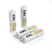 4 in 1 EBL Ni-Mh 2300mAh 1.2v AA Rechargeable Battery for LED light Toy Replacement Batteries for flashlight Camera MP3