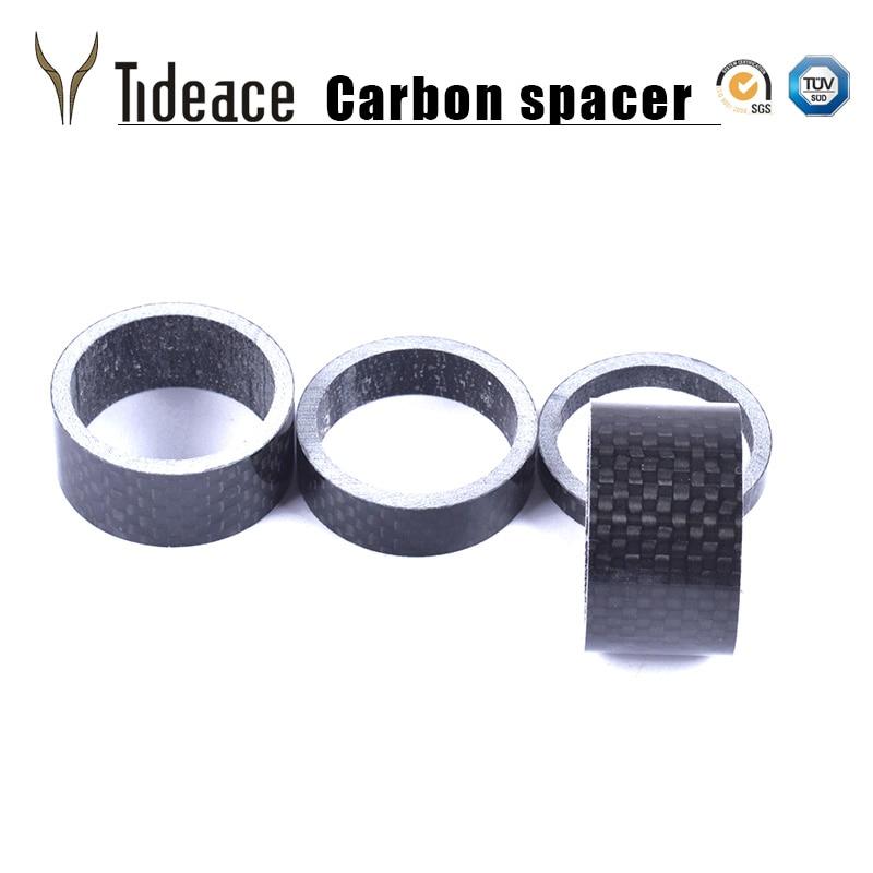 Mountain Road Bike Stem Spacer Carbon Fiber Headset 1-1//8 Inch 28.6mm 5Pcs//set