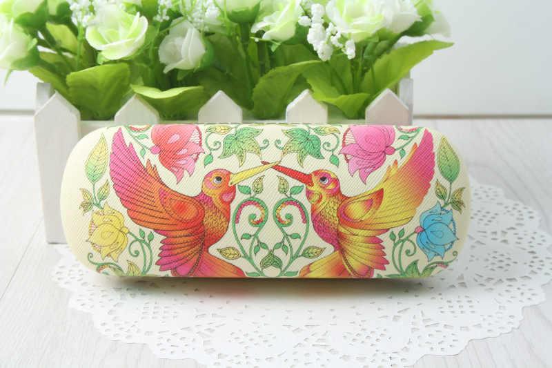 LIUSVENTINA Hot Story Cute Secret Garden Owl Tree Peacock Dandelion Frame Glasses Box Sunglasses Case Gift for Girls and Friends
