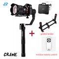 Zhiyun Кран 3 оси Ручной Стабилизатор Gimbal для Canon DSLR Камеры Поддержка 1.2 КГ PK Beholder DS1 MS1 DHL EMS бесплатно