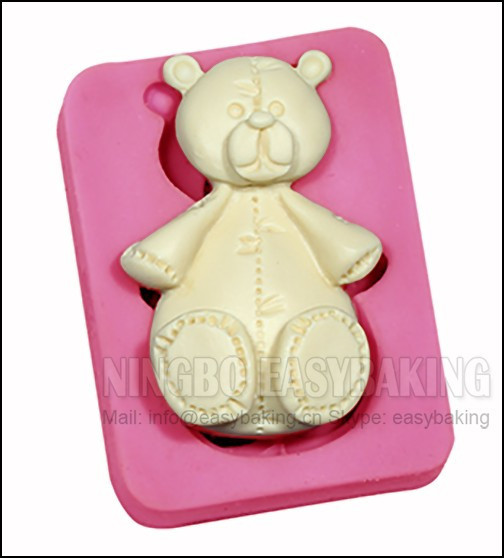 CHRISTMAS TEDDY BEARS SILICONE MOULD FOR CAKE TOPPERS CHOCOLATE ETC