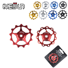 New Product 2 Pcs 11 Tooth MTB Mountain Bikes Rear Derailleur Aluminum Aolly 11T 13T Guide Wheel Idler Pulley Jockey Wheel