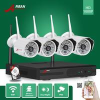 ANRAN 4CH 2MP 1080P Outdoor 48IR Waterproof Wifi Wireless Camera NVR Security Surveillance System With 2TB