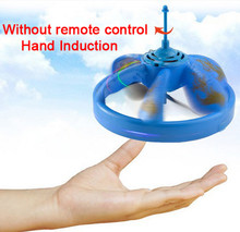Free Ship RC Remote Control Toys UFO Mini Helicopter Quadcopter Infrared Induction Sensor Hovering Floating Flying Saucer