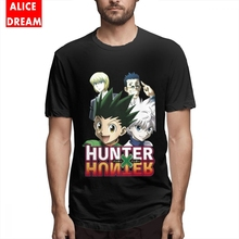 Hunter X T shirt Gon Killua Kurapika Leorio Tees Boy Anime Homme Tee Shirt Cotton S-6XL 3D Print