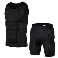 Anti Collision Basketball Jersey Quick Dry Training Vest Shorts College Throwback Football Jerseys Body Protection Mens