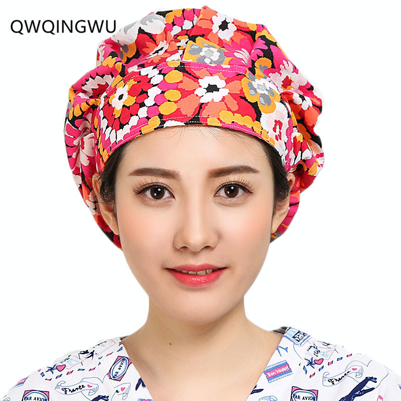 Medical Work Wear & Uniforms New Beauty Salon Doctor Nurse Scrub Caps Medical Surgical Women Hats With Sweatband Inner For Unisex Clinic Workwear Cap Cotton Traveling