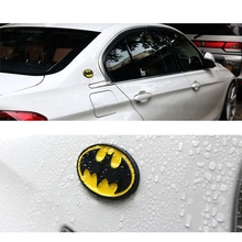 3D Metal Bats Car stickers metal car bat man badge Last Batman decals motorcycle Styling Car-Styling