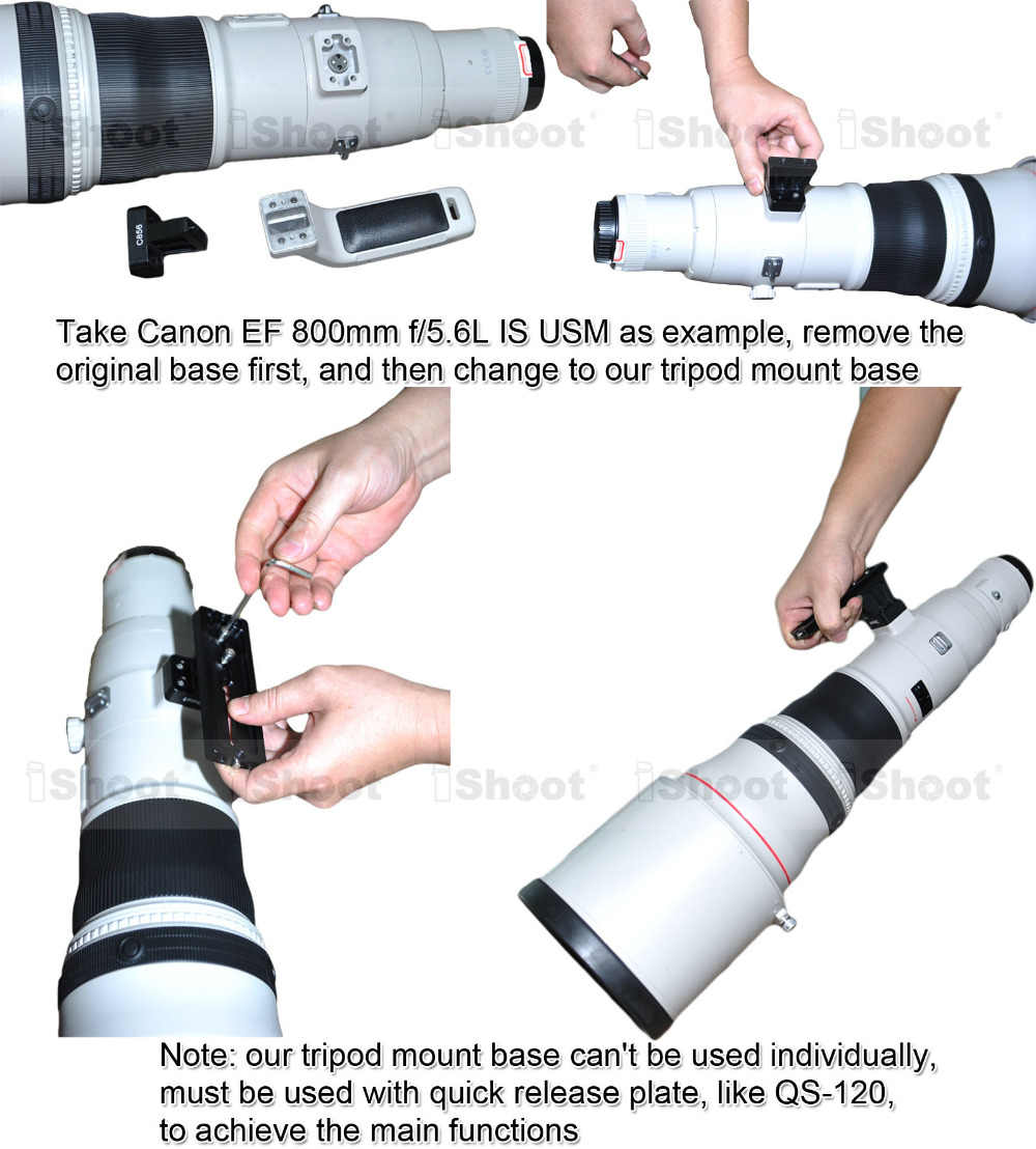 Крепление для штатива кольцо база поддержка воротник стойка камера БЫСТРОРАЗЪЕМНАЯ пластина длиннофокусный держатель объектива для Canon EF 500 мм f/4L IS II USM