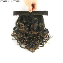 Delice Clip In Afro Curly Ponytail Synthetic Hair Heat Resistance Fiber Drawstring Rope Horse Tail Hairpieces(China)