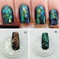 Holográfica Micro Copos Súper Holo Transparente Brillo Decoración de Uñas de Acrílico UV Gel Decoración Paillette Cromo Escamas