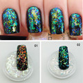 Holographic Micro Flakes Super Holo Transparent Glitter Nail Art Decorations Acrylic UV Gel Decoration Paillette Chrome Flake