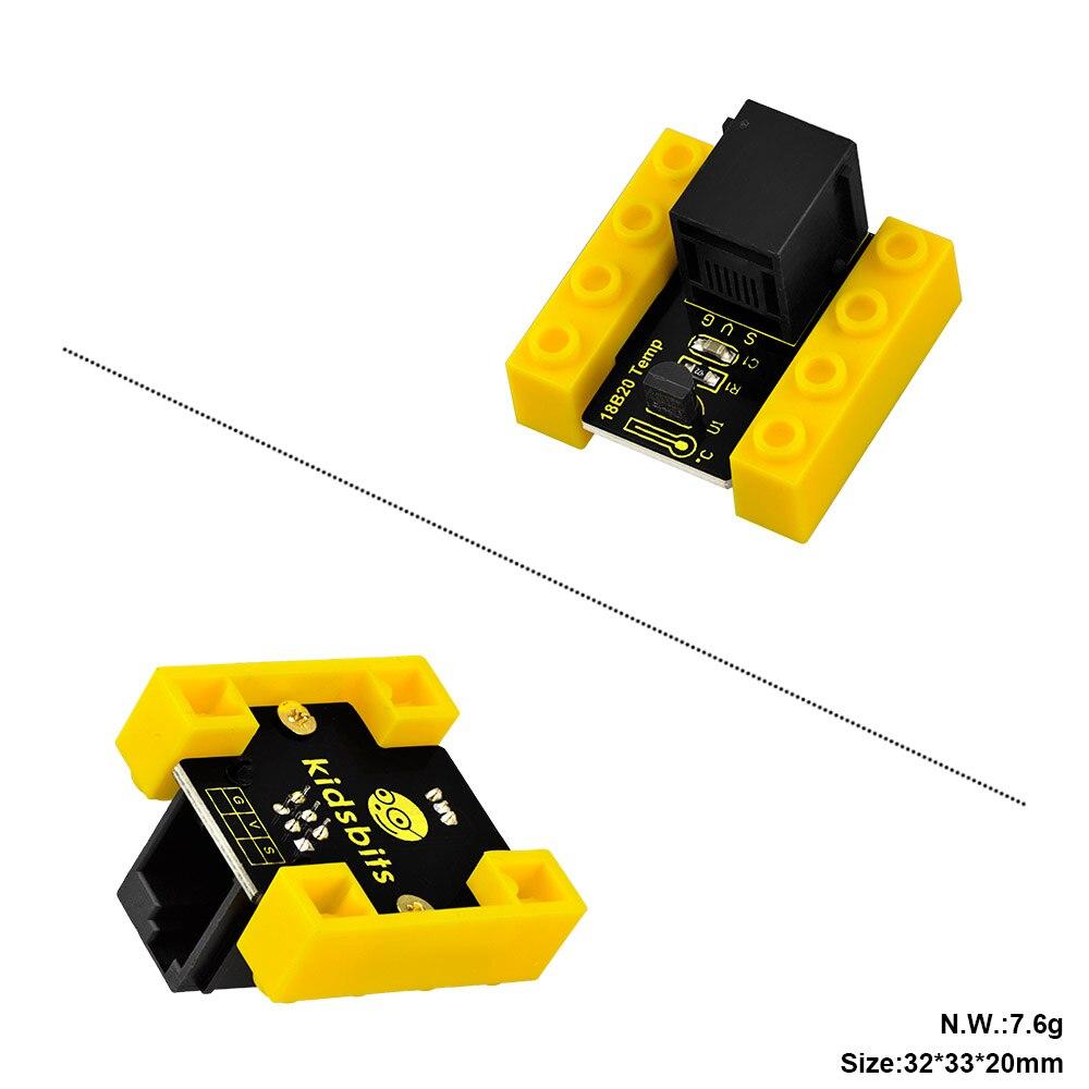 Image 2 - kidsbits Blocks Coding 18B20 Temperature Sensor Module for Arduino STEAM EDU(Black and Eco friendly)-in Demo Board from Computer & Office