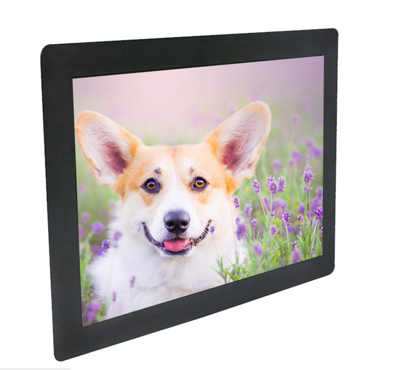 8 inch 1024x768 IPS full view HD metal case VGA USB industrial Anti-interference four wire resistance touch monitor