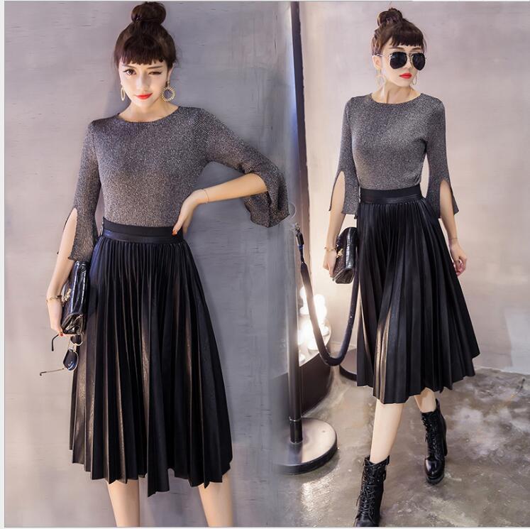 Длинные юбки черные зимние