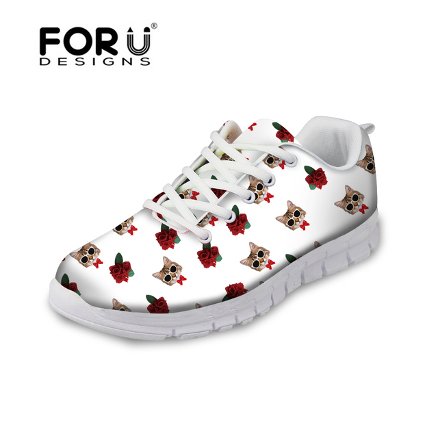 FORUDESIGNS Mode Chat Imprimer Femmes Casual Chaussures, 2017 Marque Marque 2017 b6550e