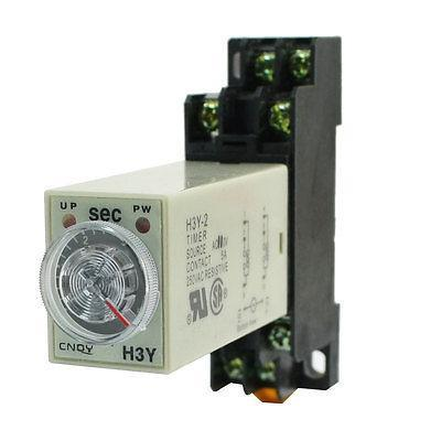 Knob Control AC110V 8P DPDT 5s Seconds Timer Time Delay Relay w Socket zys48 s dh48s s ac 220v repeat cycle dpdt time delay relay timer counter with socket base 220vac