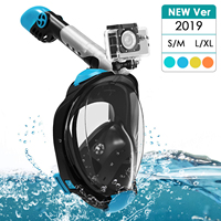 Anti Fog Diving Mask Full Face Snorkel Mask Set with Advanced Breathing System Adult Kids Swimming Mask Detachable Gopro Mount