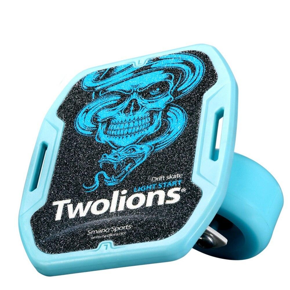 SPORTSHUB 1 paire planche à roulettes dérive planche pour rouleau route dérive plaque antidérapant Skateboard sport ABS pédale roues en polyuréthane CS0016 - 5