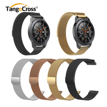 Milanese Stainless Steel Watchband for Samsung Galaxy Watch Strap Belt Wristband Magnetic Loop Watch Band 42mm 46mm 4 Colors