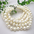 Free Shipping  Natural Fresh Water Pearl Bracelets Real Pearl Bracelet 5Rows Nearround 6-7MM