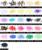 14 Facetas Ronda RhinestoneS de la Resina Cristalina 2-6mm Púrpura Negro AB Color No Hotfix Flatback Redondo Decoración Del Teléfono Diamante del Arte del clavo