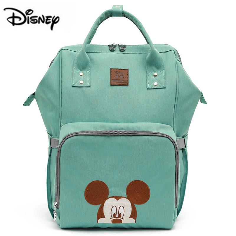 Sac à langer de marque pour bébé | Sac de maternité de grande capacité avec chauffage USB Disney Minnie et maman, sac de voyage pour soins de bébé