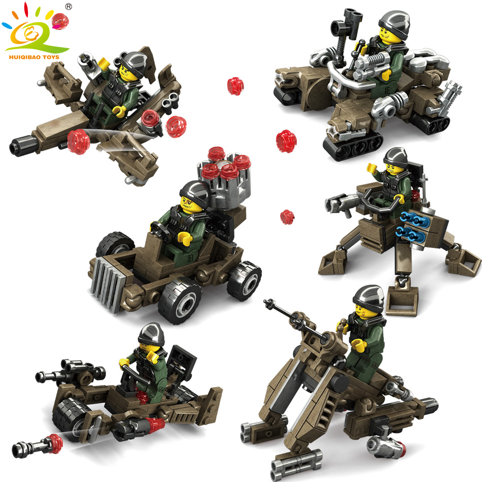 6pcs Military Transformation Building Blocks compatible legoed technic weapon Armored Car Robot figures children Toys for Boys 8 in 1 military ship building blocks toys for boys