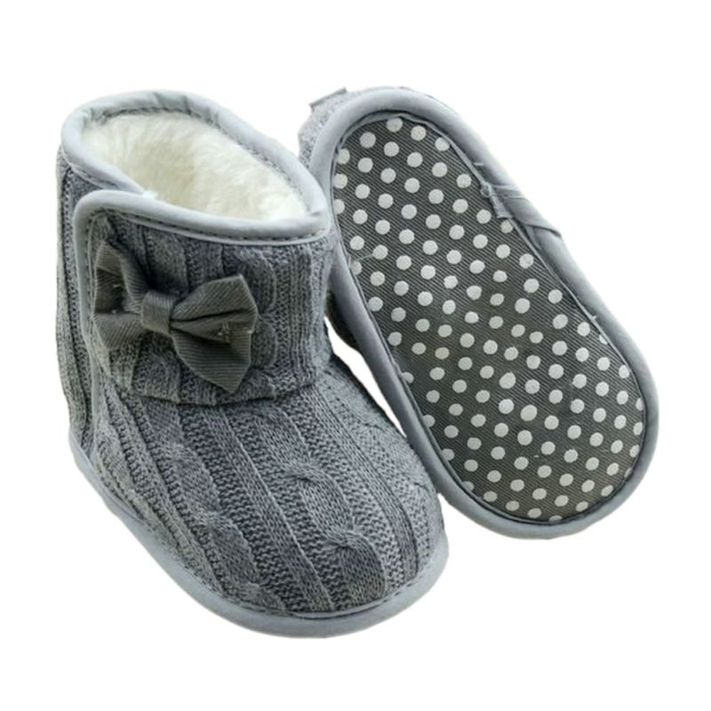 Baby-Girl-Shoes-Knit-Bowknot-Faux-Fleece-Snow-Boot-Soft-Sole-Kids-Wool-Baby-Booties-3-18M-2
