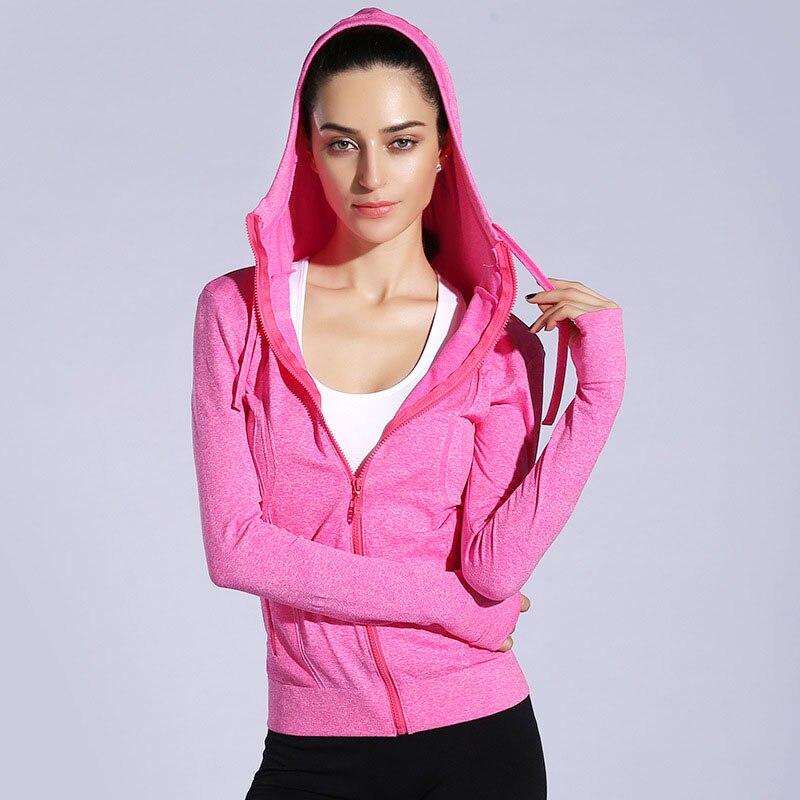 Women Sports Yoga Zipper Running Jackets Fitness Gym Training Coat Quick Dry Long Sleeve Outdoors Sportswear Active Wear все цены