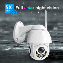 1080P Wireless WiFi IP Camera Two Way Audio Talk 5x Optical Zoom PTZ Surveillance Network Dome Outdoor Waterproof  CCTV Camera
