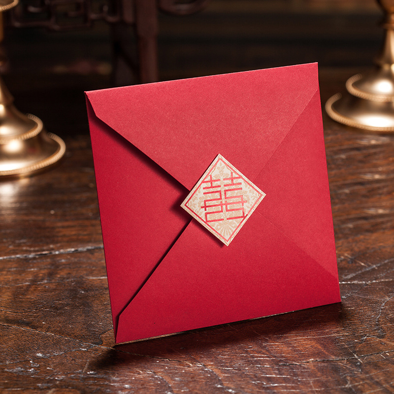 Wedding Invitations From China: Marriage Wedding Card Customized Printable Red Wedding
