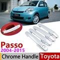 Для TOYOTA PASSO M300 2004 ~ 2015 хромированные дверные ручки крышки наклейки на автомобиль отделка комплект 2005 2006 2007 2009 2011 2013 2014