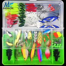 JIADIAONI 100 Pieces Carp Fishing Lure Set Spinner Metal Bait Fly Fishing Wobblers Minnow Crankbait Lures Cheap Fishing Tackle