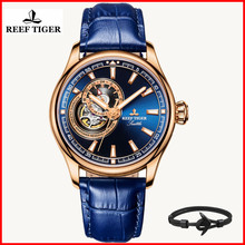 2019 Reef Tiger/RT Dress Men Watch Blue Tourbillon Watches Top Brand Luxury Automatic Mechanical Watch Relogio Masculino RGA1639