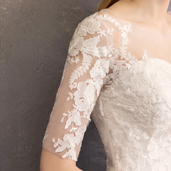 LYG-H15#It's Ivory white wedding dress lace up Floor-Length Bride's marriage dresses Ball Gown cheap wholesale 5
