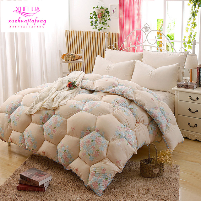 100 Cotton Quilt Solid Color Duvets Is Core Quilted Thicker Winter Polyester