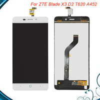 100 Tested OK For ZTE Blade X3 D2 T620 A452 LCD Display Assembly Touch Screen Digitizer