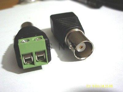 ФОТО 100Pcs Coax CCTV Coaxial Camera BNC Female Jack Video  connector