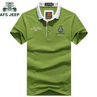 AFS джип бренд вышивка хлопок рубашки поло Для мужчин Бизнес и Повседневное футболки короткий рукав дышащие летние Camisa Поло Masculina