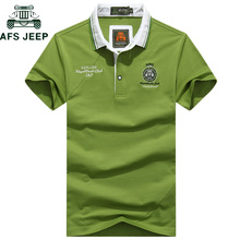 AFS JEEP Brand Embroidery Cotton Polo Shirt Men Business & Casual Tops Tee Short Sleeve Breathable Summer Camisa polo Masculina
