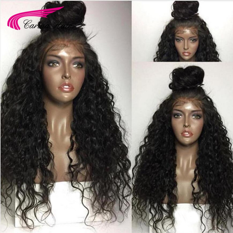 Carina Hair Lace Front Wig with Baby Hair Pre-Plucked Hairline 150% Density Peruvian Kinky Curly Remy Human Hair Front Lace Wigs