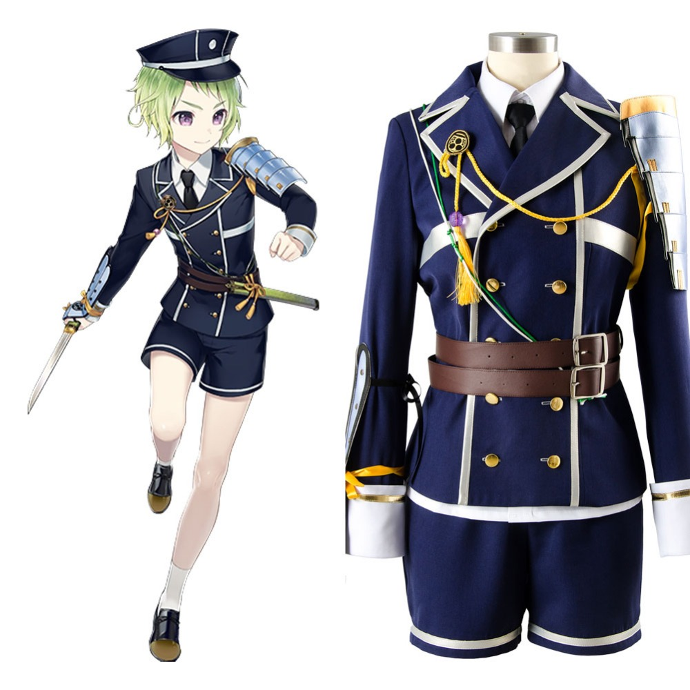 Anime Touken Ranbu Online Cosplay Mori Toshiro Costume Custom Made Full Sets Uniform Carnival Halloween Costumes